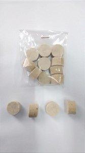 Disco feltro branco Ø 18mm - Pacote c/ 10 unidades