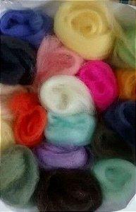 Lã merino p/ Feltragem embalagem c/ 15gr