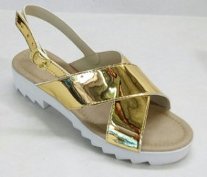 Sandalia Tratorada X Dourada