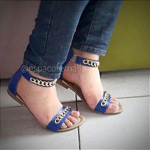 Sandália Corrente Azul