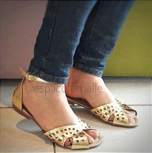 Sandália Laser 013 Dourada