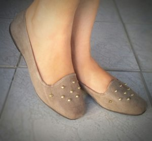 Slipper Bege com Spikes