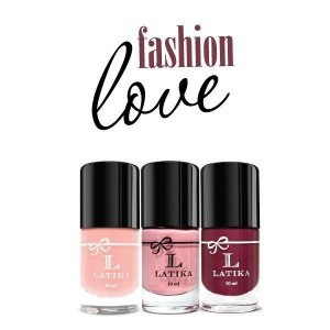 Kit Esmalte Latika Unha Decorada Fashion Love