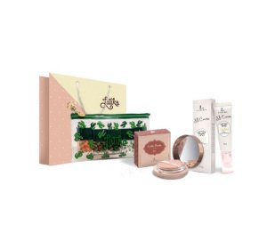 Powder  Bege Escuro + BB cream Bege Escuro + Kit Necessaire Cactus