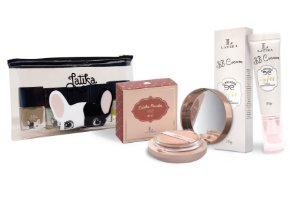 Powder Bege Claro + BB cream Bege Claro + Kit Necessaire Puppy