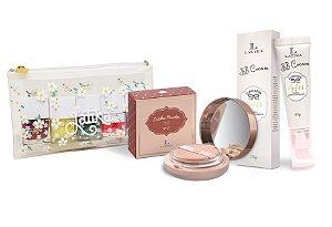 Powder Bege Médio + BB cream Bege Médio + Kit Necessaire Daisy
