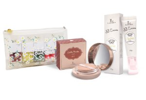 Powder Bege Escuro + BB cream Bege Escuro + Kit Necessaire Daisy
