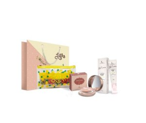 Powder Bege Escuro + BB cream Bege Escuro + Kit Necessaire Pina
