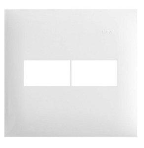 Simon 35 Placa sem Suporte  4 x 4 - 2 Postos Horizontais Branca