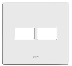 Placa 4 X 4 - 2 Postos Horizontais + Suporte - Simon 20