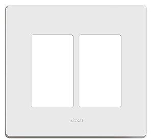 Simon 20 Placa 4 X 4 - 6 Postos Horizontais + Suporte