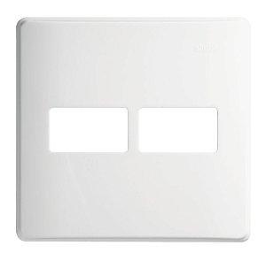 Placa 4x4 - 2 Postos Horizontais c/ Suporte - Simon 19