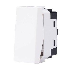 Unno Branco Módulo de Interruptor Simples ABB