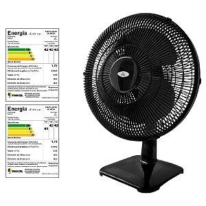 Ventilador Oscilante de Mesa Soft 40 cm Preto Venti-Delta