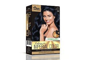 Coloração 2.8 Preto Azulado Imperial Color - Kit