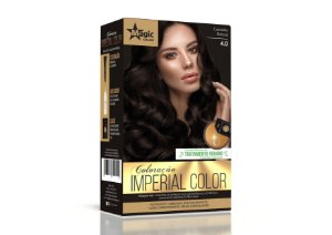 Coloração 4.0 Castanho Natural Imperial Color - Kit