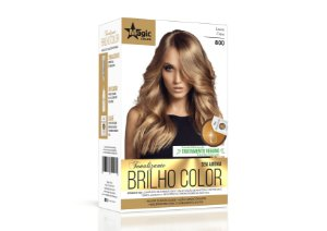 Tonalizante 800 Loiro Claro Brilho Color - Kit