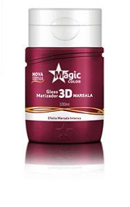 Mini Gloss Matizador 3D Marsala - Efeito Marsala Intenso - 100ml