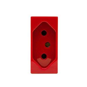 Unno Vermelho Módulo de Tomada 2P+T 20A ABB