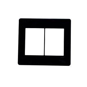Placa s/suporte 4x4 (3+3) ABB Unno Life Preto