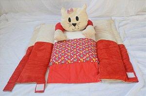 Ninho para bebê - Gatinha vermelha