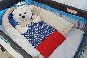 Ninho para bebê - Ursinho marinheiro azul