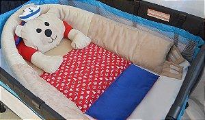 Ninho para bebê - Ursinho marinheiro vermelho