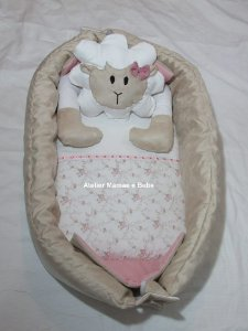 Ninho para bebê - Ovelha branca