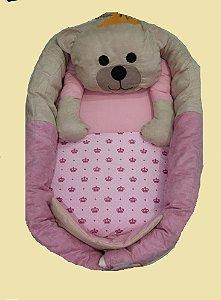 Ninho para Bebe - Ursa Realeza Rosa