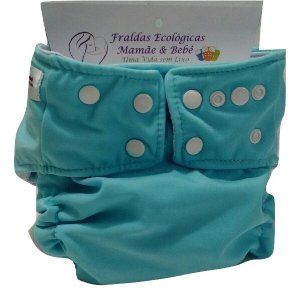 Fralda Praia/piscina/dia a dia UV+50  -  Azul Claro