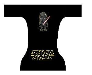 Fraldas dia a dia - Darth Vader padrão preto