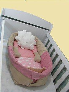 Ninho para Bebe Nuvem rosa