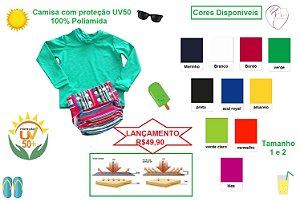Camisa manga longa Proteçã UV50