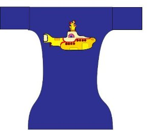 Fralda dia a dia Yellow submarine