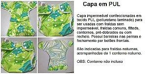 CHÁ DE FRALDAS - ALICE (PAIS DEBORAH E SIDNEY) -  Capa em pul - estampa a escolher