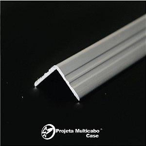 PERFIL DE ALUMINIO LATERAL CANTONEIRA 15 mm  - 3 varas com 1 metro cada