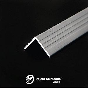 PERFIL DE ALUMINIO LATERAL CANTONEIRA 18 mm - 3 varas com 1 metro cada