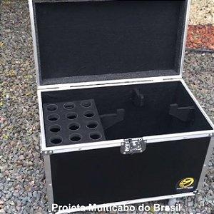 CASE CAIXOTE PEQUENO PARA 12 MICROFONES E ESPAÇO PARA CABOS