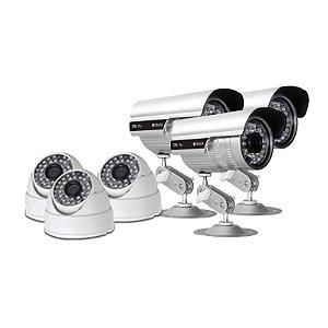 KIT com 3 Câmeras Infravermelho Dome 1000 linhas e 3 Câmeras Infravermelho Bullet 1.200 linhas - GRÁTIS Fontes e Conecto