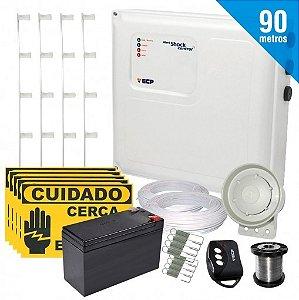Kit Cerca Elétrica Shock Control ECP para 90 Metros de Muro Completo + Brinde (Com Bateria)