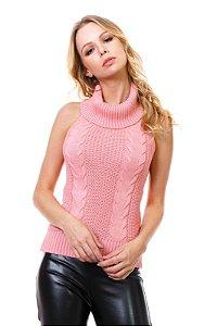 Blusa tricot frente única