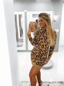 Vestido Jacquard Onça