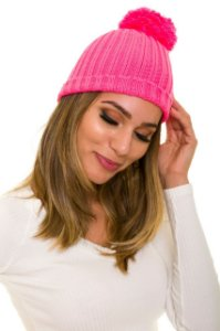 Touca Tricot Pink Neon