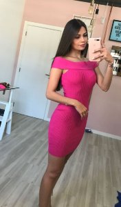 Vestido Ombro  a Ombro Pink
