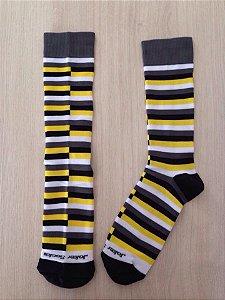 Liistras desencontradas preto e amarelo