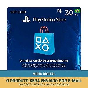 Cartão Presente R$30 PSN Brasil - Sony
