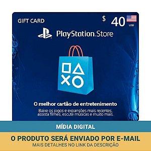 Cartão Presente $40 (dólares) PSN Americana - Sony