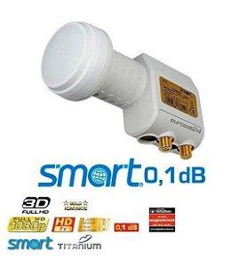 LNBF Smart Titanium TWIN (DUPLO) Universal Banda Ku (0,1db) - EUROPA