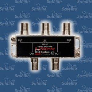 DIVISOR 1X4 CATV 5 - 2500 MHZ TELE SYSTEM