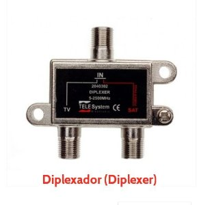 Diplexer Telesystem - Combinador de Uhf/Vhf + Sinal Satélite